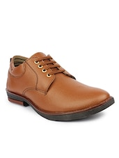 tan Leather formal lace-up derby -  online shopping for Derbies