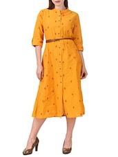 yellow cotton aline dress -  online shopping for Dresses