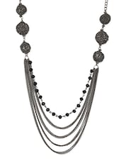 Black Metal Chain Necklace - By