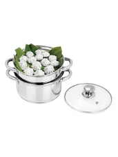 PRISTINE 2 Tier Multi Purpose Steamer with Glass Lid, 18cm -  online shopping for Steamers