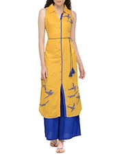 Mustard Rayon Long Kurta - By