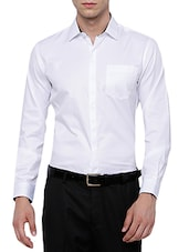 white polyester blend formal shirt -  online shopping for formal shirts