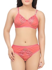 pink cotton bra and panty set -  online shopping for bras and panty set