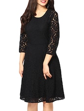 black net skater dress -  online shopping for Dresses