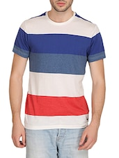 multi colored cotton striped t-shirt -  online shopping for T-Shirts