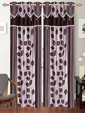 Multi Colored Printed Set Of 2 Polyester Door Curtain - By