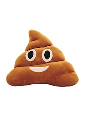 Skylofts Soft  Poop Smiley Laughing Emoji Dark Brown Cushion Pillow Stuffed Plush Toy Doll - By