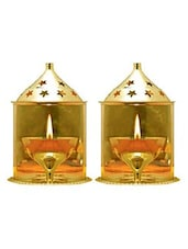 Decorate India Brass Akhand diya set of 2 -  online shopping for Prayer accessories