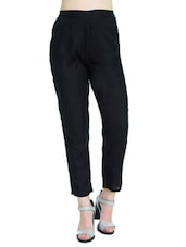 black rayon trouser -  online shopping for Trousers