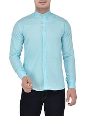 light blue linen casual shirt -  online shopping for casual shirts