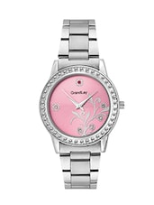 Grandlay  ct-2033 light pink dial with metal strap watch for women -  online shopping for Wrist watches