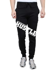 black cotton printed track pant -  online shopping for Track Pants