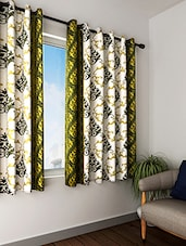 Polyester Printed Set Of 2  Window Curtain - By