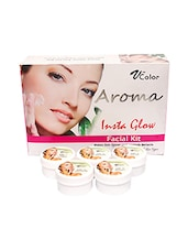 V-Color Aroma Insta Glow Facial Kit 270 g (5 Steps) -  online shopping for Facial Kit