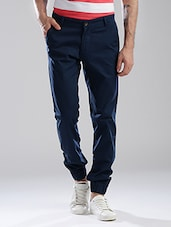 blue cotton joggers -  online shopping for Joggers