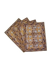 Florals Printed Cotton Table Mat Set Of 6 Pcs - By