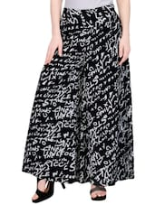 black printed crepe palazzo -  online shopping for Palazzos