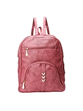 pink leatherette  regular backpack -  online shopping for backpacks