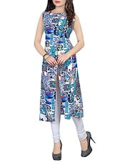 Multi Colored Cotton Printed A-line Kurta - By