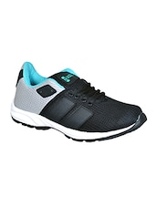 black synthetic & mesh laceup sports shoes -  online shopping for Sports Shoes