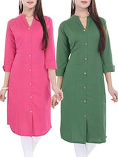 multi colored cotton combos kurta -  online shopping for kurtas