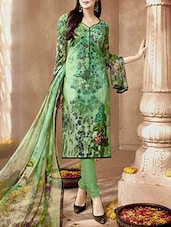 green cotton dress material -  online shopping for Dress Material