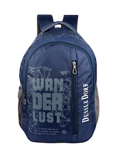 blue polyester backpack -  online shopping for backpacks
