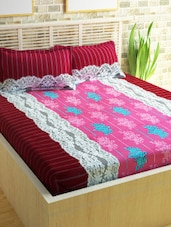 Story @ Home 240 TC 100% Cotton Pink 1 Double Bedsheet With 2 Pillow Cover -  online shopping for bed sheet sets