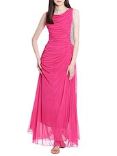 pink georgette gown -  online shopping for Dresses