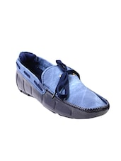 blue denim slip on moccasins -  online shopping for Moccasins