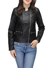 black leather jacket -  online shopping for jackets