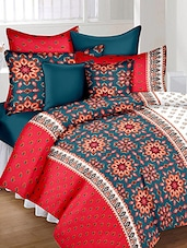 Printed Double Bed Sheet With 2 Pillow Covers By JMT -  online shopping for bed sheet sets