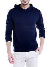 solid navy blue cotton sweatshirt -  online shopping for Sweatshirts
