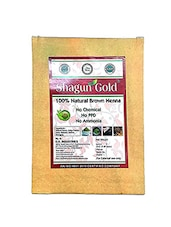 Shagun Gold Brown Henna Hair Color  100% Chemical Free ( 240 Gram = 4 Packet) - By