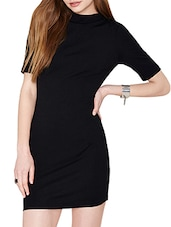black poly spandex dress -  online shopping for Dresses
