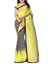 yellow georgette printed saree -  online shopping for Sarees