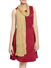 beige chiffon scarf -  online shopping for Scarves