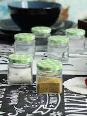 Devnow Square Miniature Jar green set of 6 pcs 30ML -  online shopping for Containers