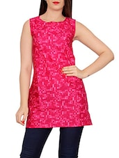 pink cotton straight kurti -  online shopping for kurtis
