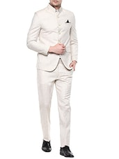beige linen suits -  online shopping for Suits