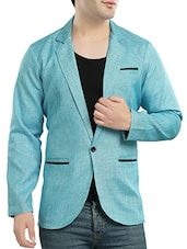 light blue cotton casual blazer -  online shopping for Casual Blazer