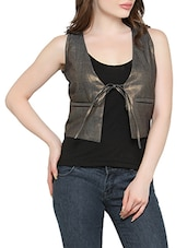 black cotton top with jacket -  online shopping for Tops