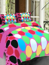 Multicolored Polycotton Double Bedsheet With 2 Pillow Cover -  online shopping for bed sheet sets