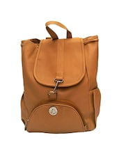 brown leatherette backpack -  online shopping for backpacks