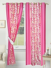 Set of 2 Polyester Door Eyelet Curtain By Angiela -  online shopping for Curtains