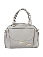 grey leatherette regular handbag -  online shopping for handbags