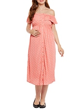 peach printed maternity wear -  online shopping for maternity wear