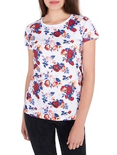 white printed cotton top -  online shopping for Tops