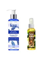 KASA Shampoo With Conditioner Hair Follicle Strength Pro(with Keratin & Biotin) 200 Ml & KASA Moroccan Argan Oil 50 Ml Combo - By
