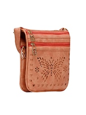 pink leatherette  regular sling bag -  online shopping for sling bags